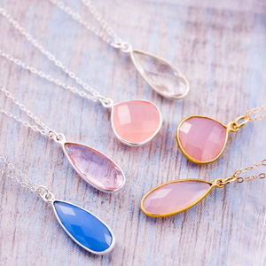 Gemstone Thank You Bridesmaid Necklace - necklaces & pendants