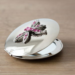 Dragonfly Mirror Compact - wedding favours