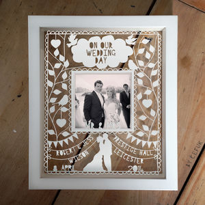 Personalised Instagram Photo Wedding Papercut - picture frames