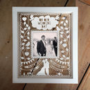 Personalised Instagram Photo Wedding Papercut