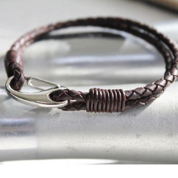 Men's Two Strand Leather Bracelet
