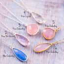 Set Of Four Gemstone Bridesmaid Necklaces