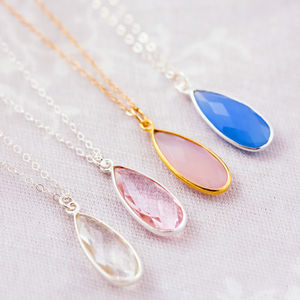 Set Of Four Gemstone Bridesmaid Necklaces - bridesmaid gifts