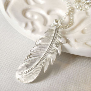 Sterling Silver Feather Necklace - necklaces & pendants