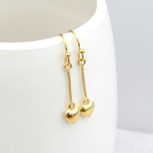 'Forever Love' Vermeil Gold Droplet Earrings