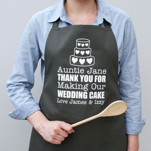 Personalised Wedding Cake Apron - kitchen accessories