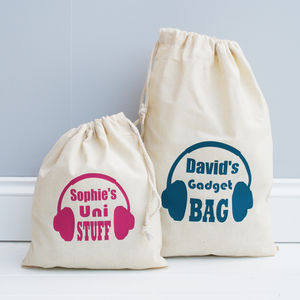 Personalised Gadget Bag - gifts for teenagers