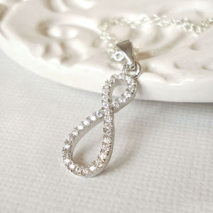 Sterling Silver Sparkle Infinity Necklace