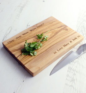 Personalised Olive Wood Chopping Board - gifts under £25