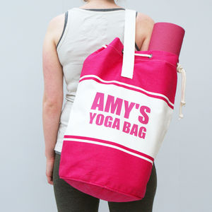 Personalised Canvas Leisure Duffle Bag - womens
