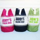 Personalised Canvas Duffle Bag