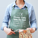 Personalised The Best At Sewing Apron