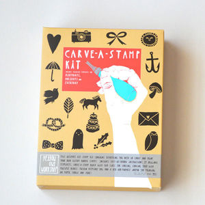 Carve A Stamp Kit - stamps & ink pads