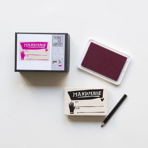 'Handmade' Custom Gift Tag Kit