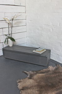 Perry Reclaimed Grey Washed Wood Storage Table