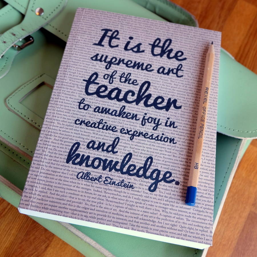 Quotes Journal Teacher Gift Quotes