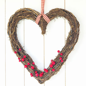 Heart Wreaths With Removeable Berries - wreaths