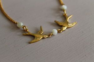 Gold Plated Bird Charm Bracelet