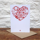 'Bike Love' Greetings Card