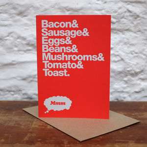 'The Perfect Breakfast' Greetings Card