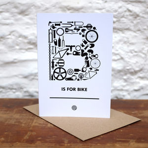 'B Is For Bike' Greetings Card