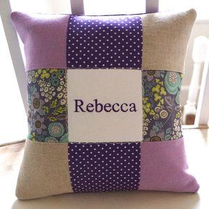 Purple Name Cushion - cushions