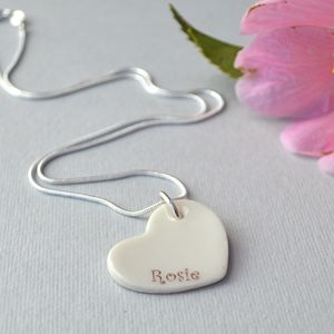 Personalised Bridesmaid Necklace Gift - for children