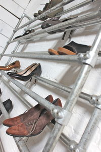 Lauren Galvanised Steel Pipe Shoe Rack - shelves & racks