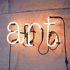Neon Letter Light - less ordinary wall art