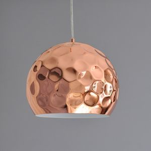 Hammered Copper Pendant Light - dining room