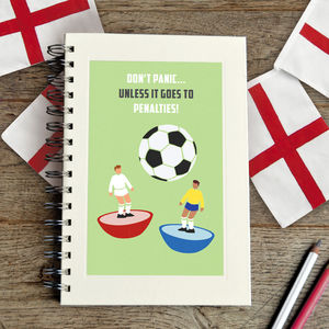 Personalised Football Notebook - gifts for football fans