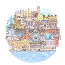 London Cityscape Orbit Illustration