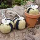 Knitted Bumblebee Decoration