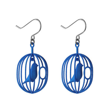Happy Birds Birdcage Earrings