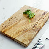 'Mr And Mrs' Olive Wood Chopping Board - gifts