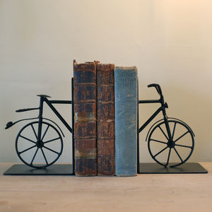 Bicycle Bookends - book-lover