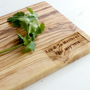 Personalised Olive Wood Chopping / Cheese Board - chopping boards