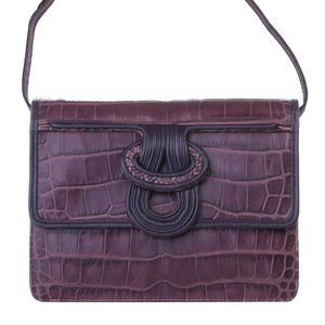 Embossed Fitzgerald Satchel