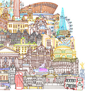 London Cityscape Two Illustration - posters & prints