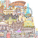 London Cityscape Two Illustration