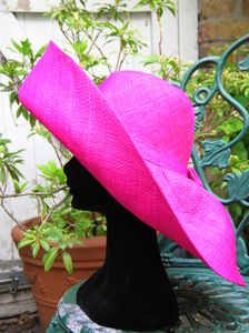 Large Brim Fold Up Straw Hat - hats, hairpieces & hair clips