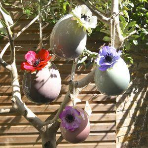 Pink Hanging Egg Vase - dining room