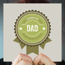'Number One Dad Badge' Father's Day Greeting Card
