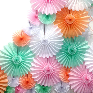 Deluxe Tissue Paper Fan - outdoor decorations
