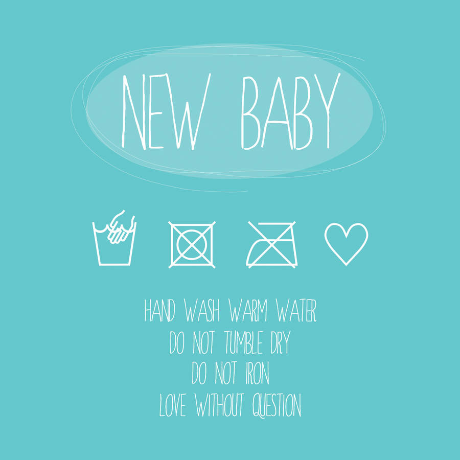 New baby blue washing instructions greeting card by a piece of new baby blue washing instructions greeting card m4hsunfo