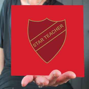 'Star Teacher' Badge Card