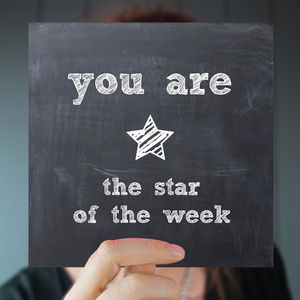 'Star Of The Week' Teacher Card/Greeting Card