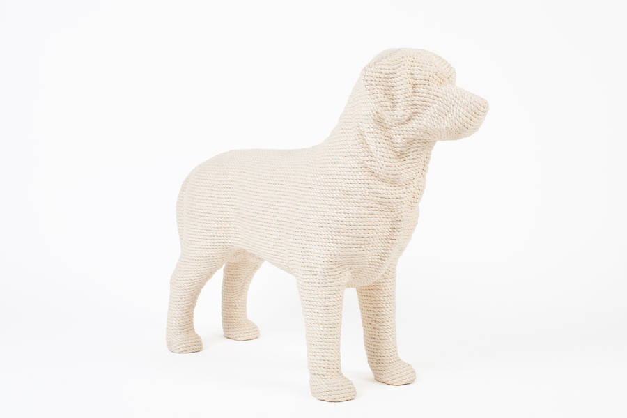 Dog Shaped Cat Scratching Post By Spotted
