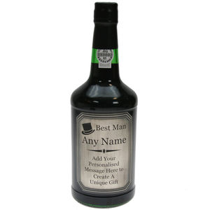 Engraved Best Man Pewter Label Special Reserve Port