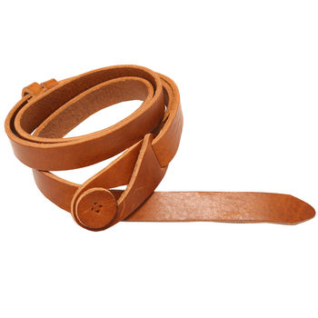 Tan Leather Button Belt